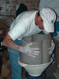 Peter forming a large bowl